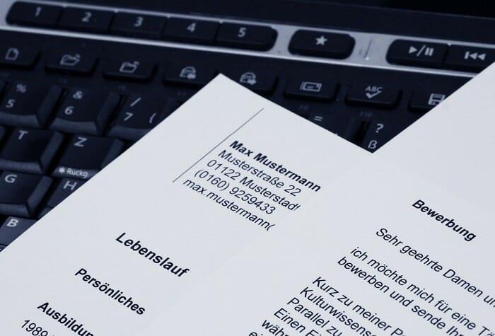 Die Anschrift beim Bewerbungsschreiben