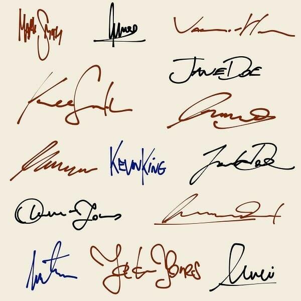 Unterschrift in der Bewerbung