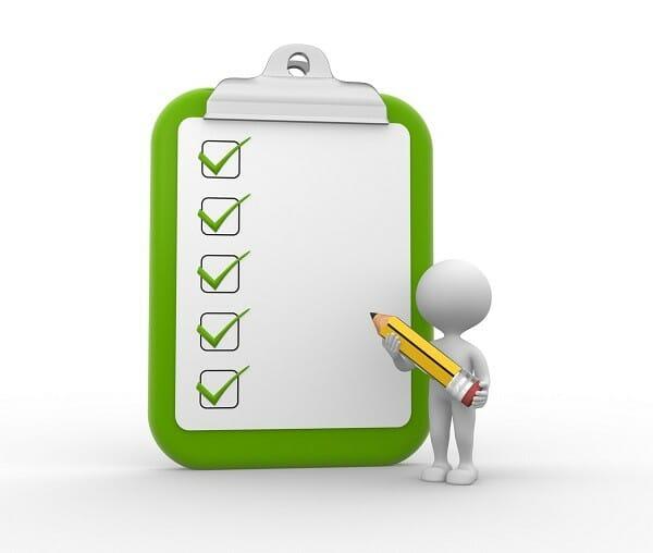Checkliste Muster-Bewerbung